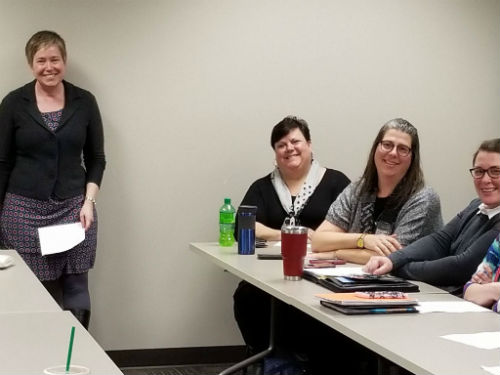 DRW Staff providing a training at Fox Valley Technical College