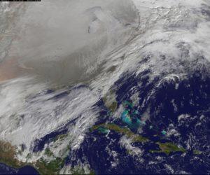 satellite image of polar vortex