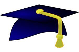 Graduation cap with tassle