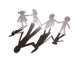 paper doll children casting shadow